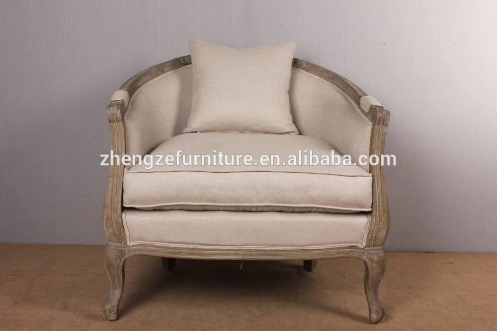 Estilo europeo muebles vintage un asiento sofá de tela sofá silla ikea silla silla bañera