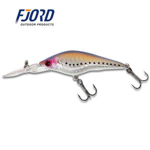 FJORD 90mm 6,9g Holographische shad minnows lucky craft wobbler köder
