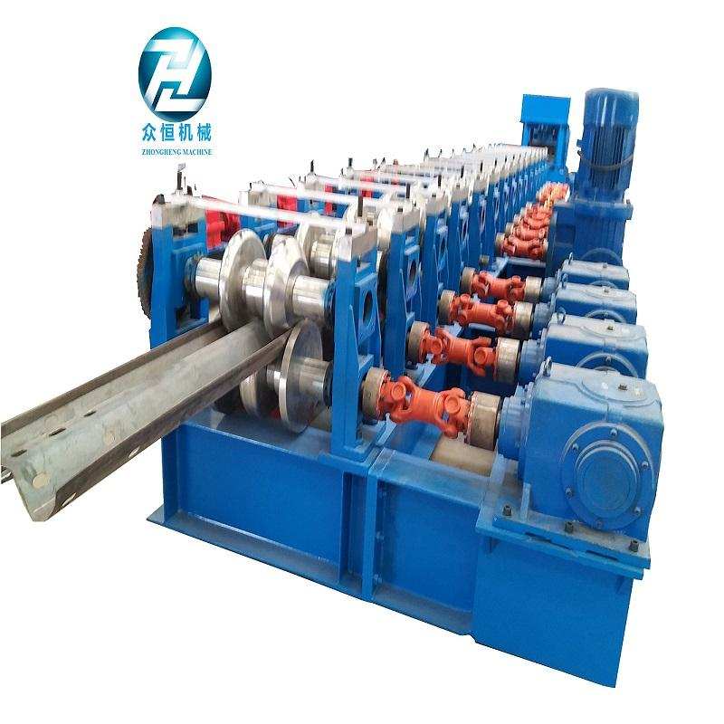 Two waves Cold Rolled highway guardrail roll Forming Machine for sale