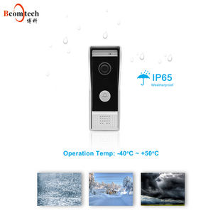 Bcomtech 7 Inch video doorbell camera intercom system for single house