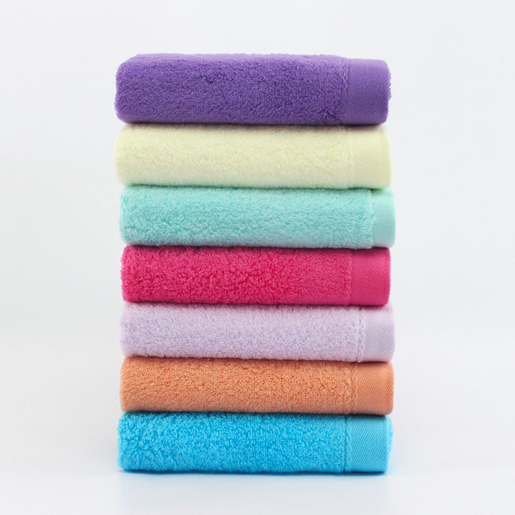100% cotton solid color zero twist hand towel quick dry hand towel for promotion