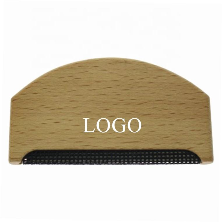 Wholesale Custom Logo Wooden Cashmere Comb Wool Comb Pilling Comb