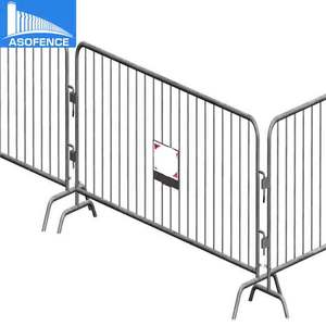 silver color aluminum barricades used for event