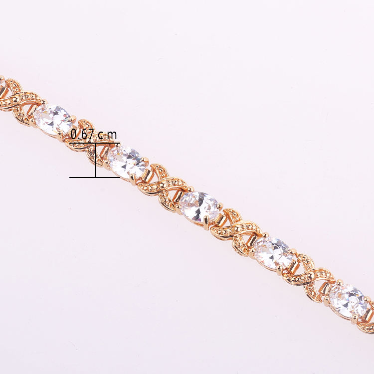 Rose gold plated fashion unit price of gold bracelets 2015