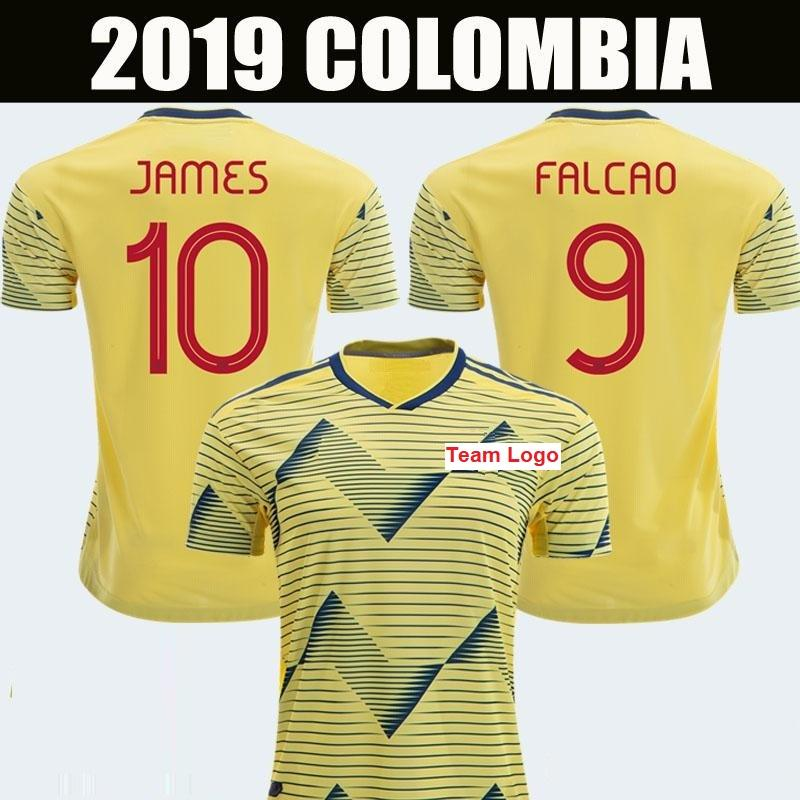 Custom naam en nummer 2019 Nationale Team Colombia voetbal jersey