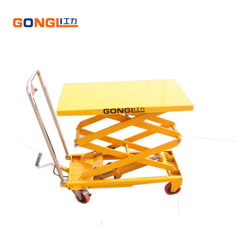 GL-0132-800 Double Scissors Lift Table for sale 800KG Elevating Work Platform Max Lift Height 1500mm