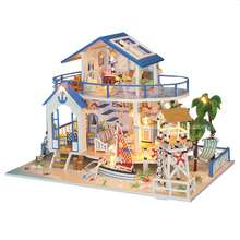 Supply to lifestyle concept shop bakery dollhouse kit cake love cute shop,baby toys wood educational