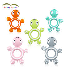 BPA Free Cute Tortoise Food Grade Silicone Soft Baby Teether/Silicone Baby Teeth Stick