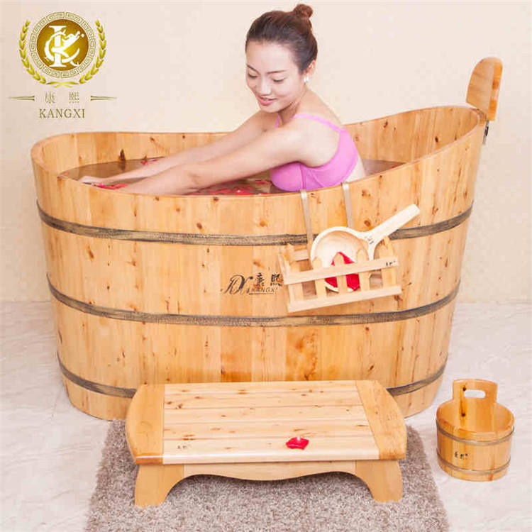 Wooden bathtub and bucket for adults with good price