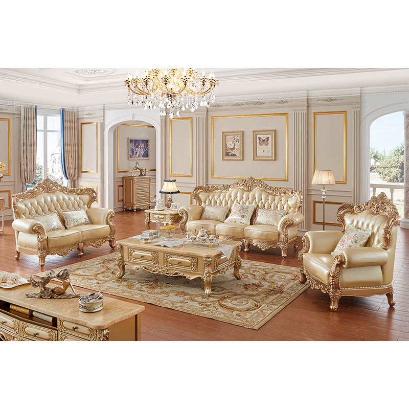 classic italian royal gold carved furniture living room sofa set luxury antique