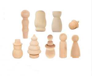 Wholesale Wood Color Craft Dolls Natural Unfinished Wooden Peg Doll Toys