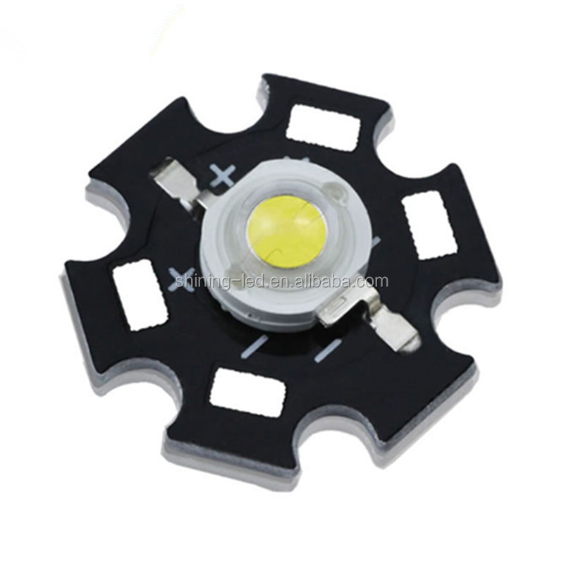 Chip Bridgelux LED Daya Tinggi 3W 1W, dengan Star Aluminium Heat Sink PCB