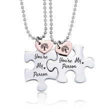 Valentine's Day You're My Person Puzzle Pendant Necklace Stainless Steel Lovers Romantic Couples for Husband Wife Boy Girl Gifts