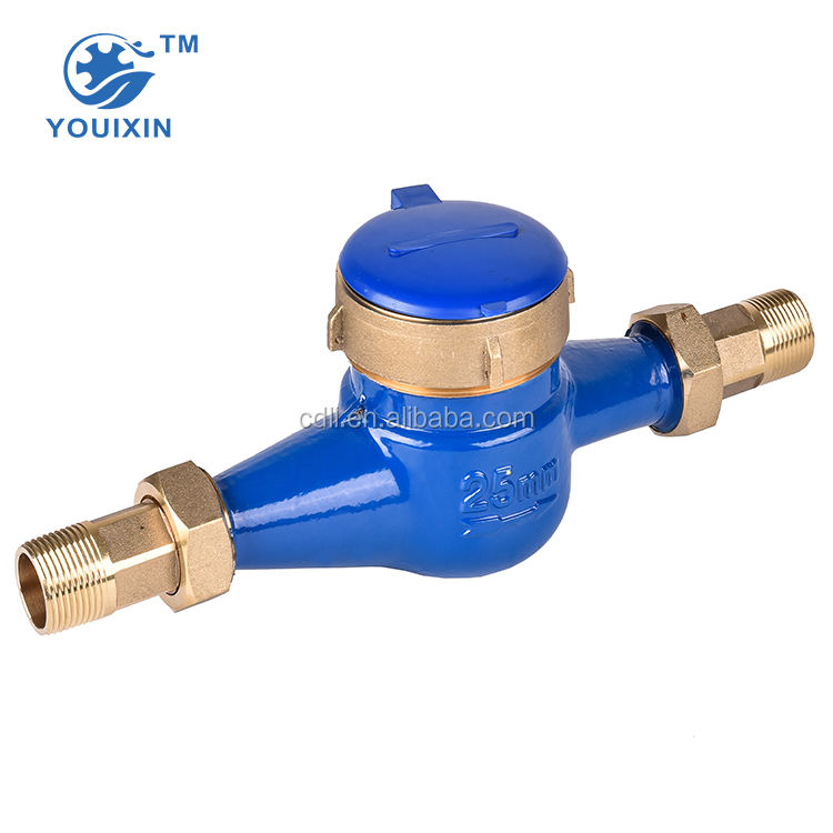 Domestic cast iron multi jet dry electronic water flow meter