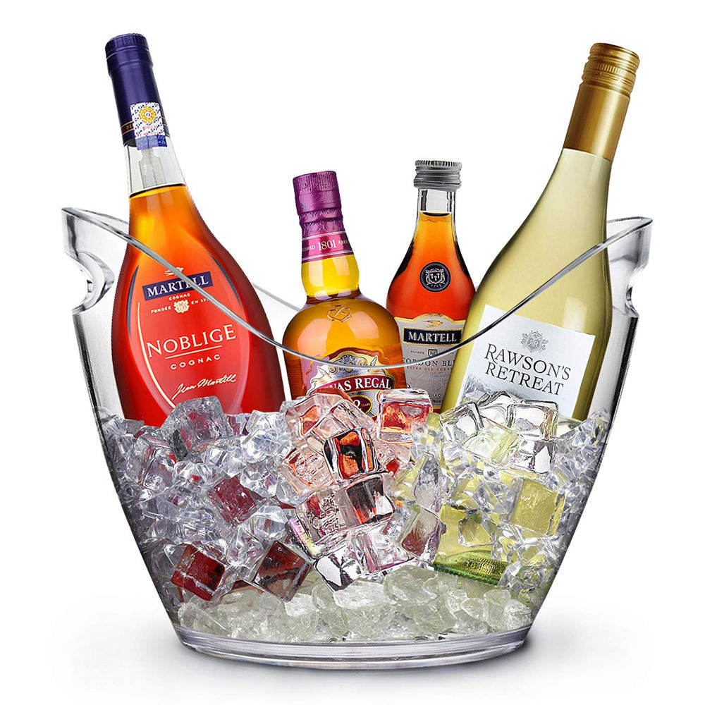 4L acrylic wine or champagne bottle ice bucket kitchen fruits and vegetable storage container