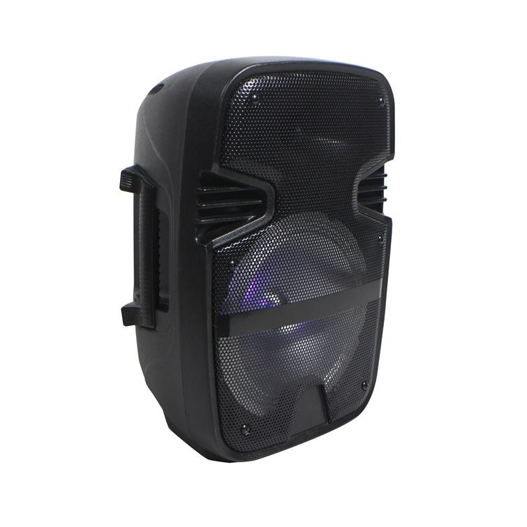 BT speaker Wireless ! AS-8D rechargeable Lithium battery 8 inch woofer 30w LED light speakers