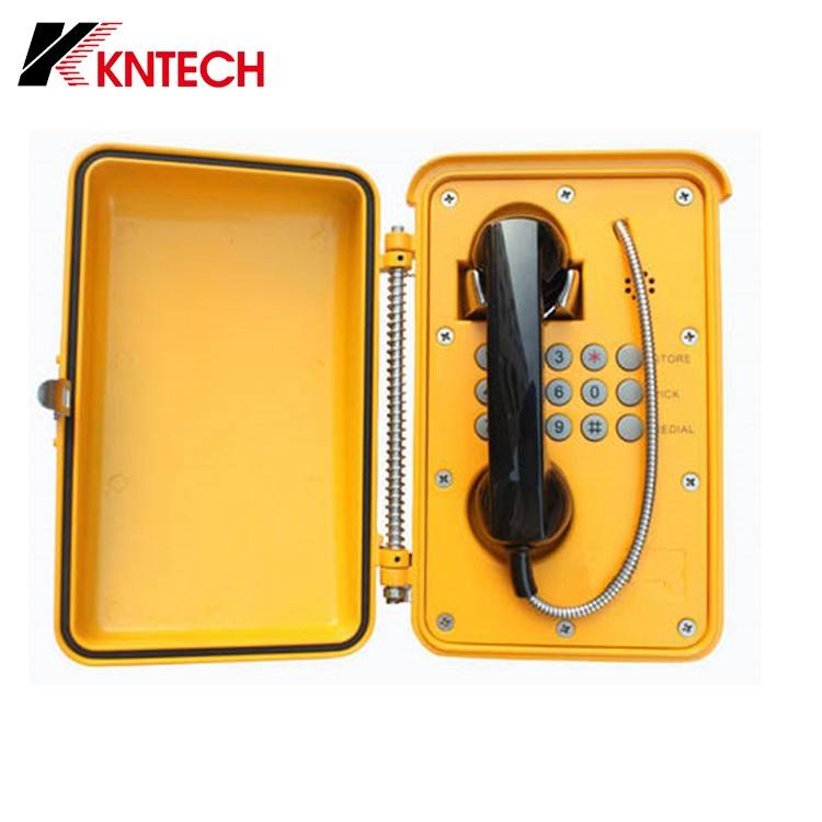 KNTECH Weatherproof Outdoor IP POE Powered Emergency Telephone with Noise Cancelling Phone Handset Receiver KNSP-01T2S