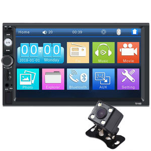 7 Inch Capacitieve Touchscreen 2 Din Multimedia Dvd-speler Stereo Monitor Universele Auto Radio Met Camera