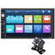 7inch Capacitive Touch Screen 2 Din Multimedia Dvd Player Stereo Monitor Universal Car Radio With Camera