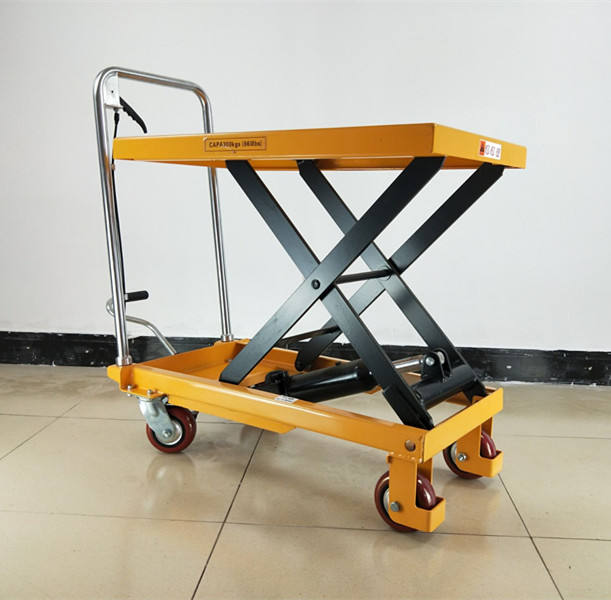 Manual hand lift carrier hydraulische schaar trolley lift made in China