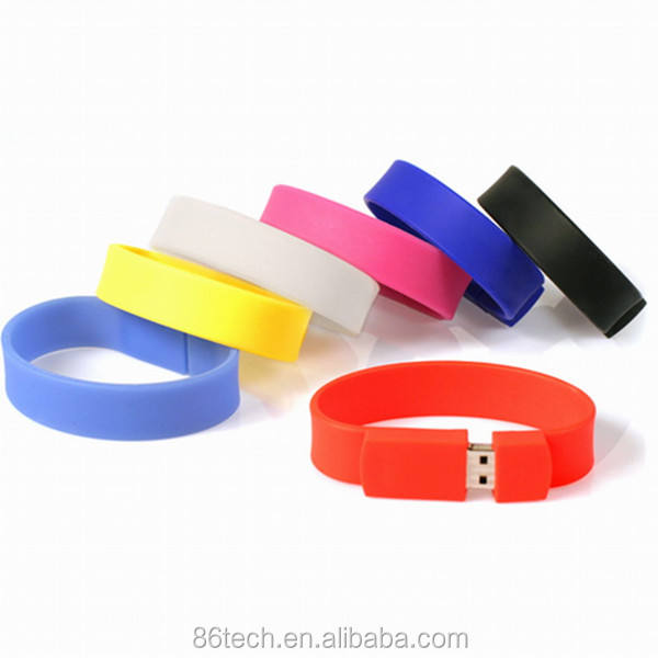 Pvc armband usb flash, hand band usb flash drive