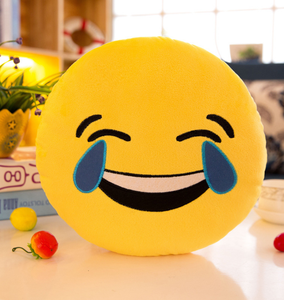Pluche Emoticon Whatsapp Emoji Huisdier Custom Soft Cotton Toy Pluche Emoji Baby Squishy Speelgoed Custom Bal Speelgoed Kussens