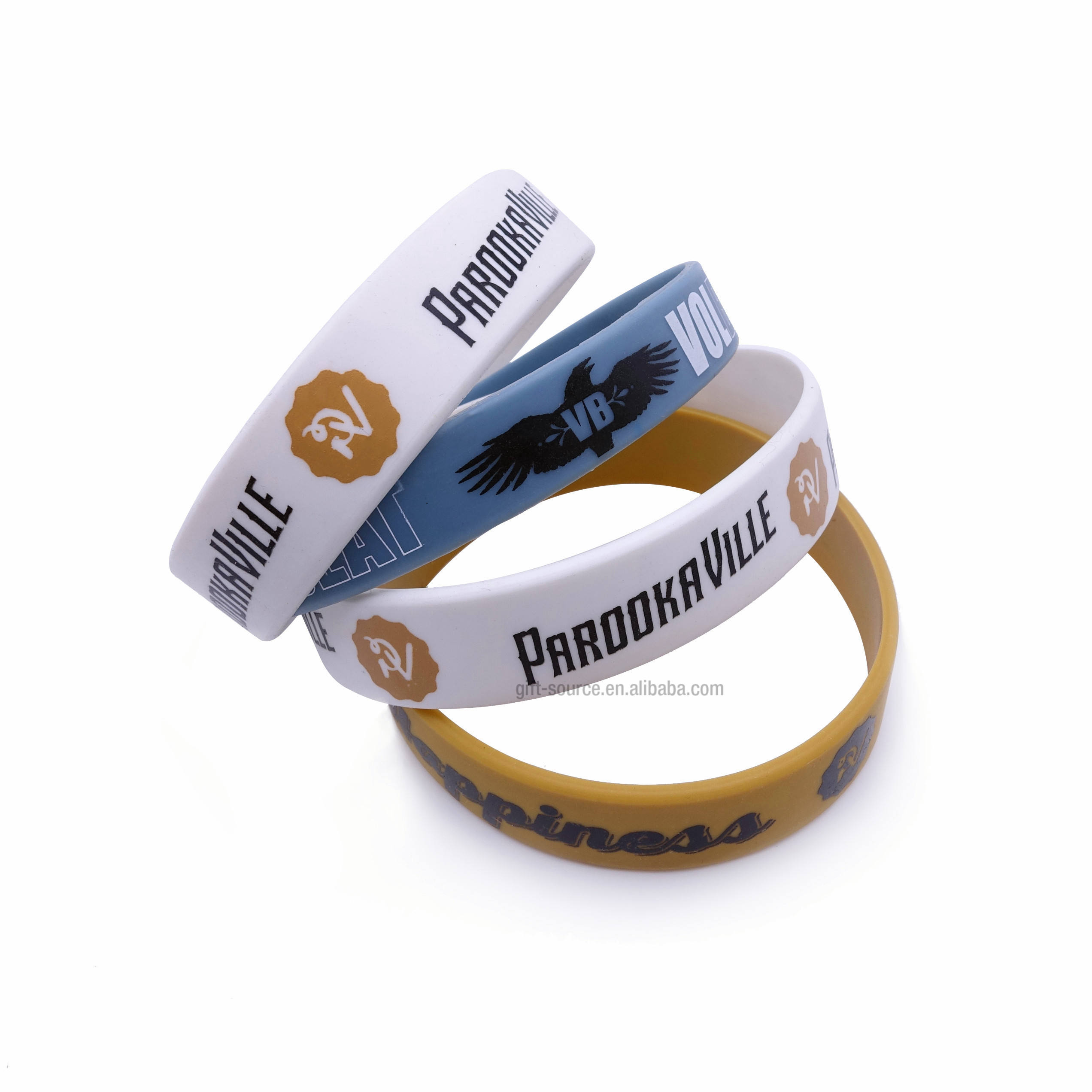 custom Printed silicone wristband for promotion Gifts,Adjustable Silicon Wristband