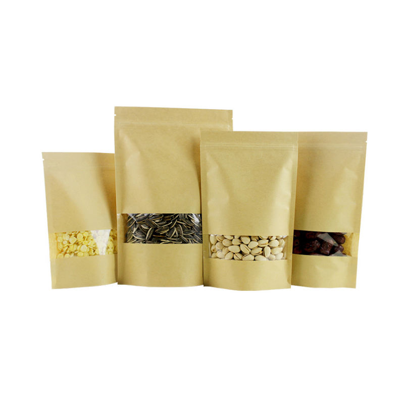 Laminated Material And Gravure Printing Surface Handling Kraft Paper Stand Up Bag For Coffee