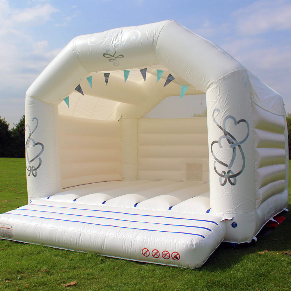 New Adult outdoor inflatable white castle wedding bounce house bouncy castle for wedding