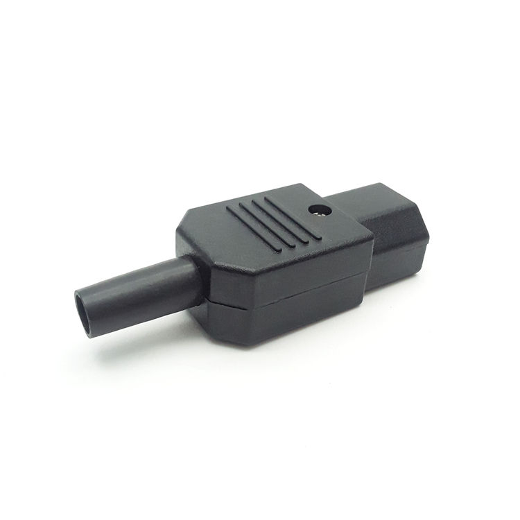 iec 320 New 10A 250V Black IEC C13 C14 female male Plug Power Connector 3 pin AC Socket c13 male connector