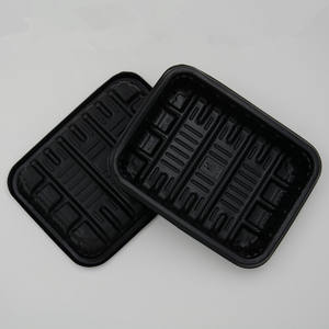PP material square plastic trays disposable for fresh food packaging