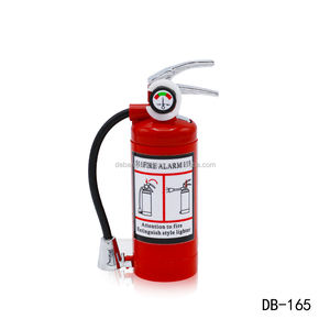 Novelty fire extinguisher butane gas gift lighter with led