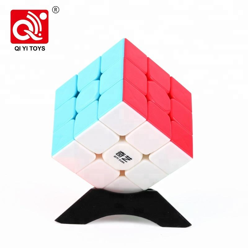 Qiyi Warrior W plastic 56mm 3layer stickerless puzzle iq cube with anti-stick