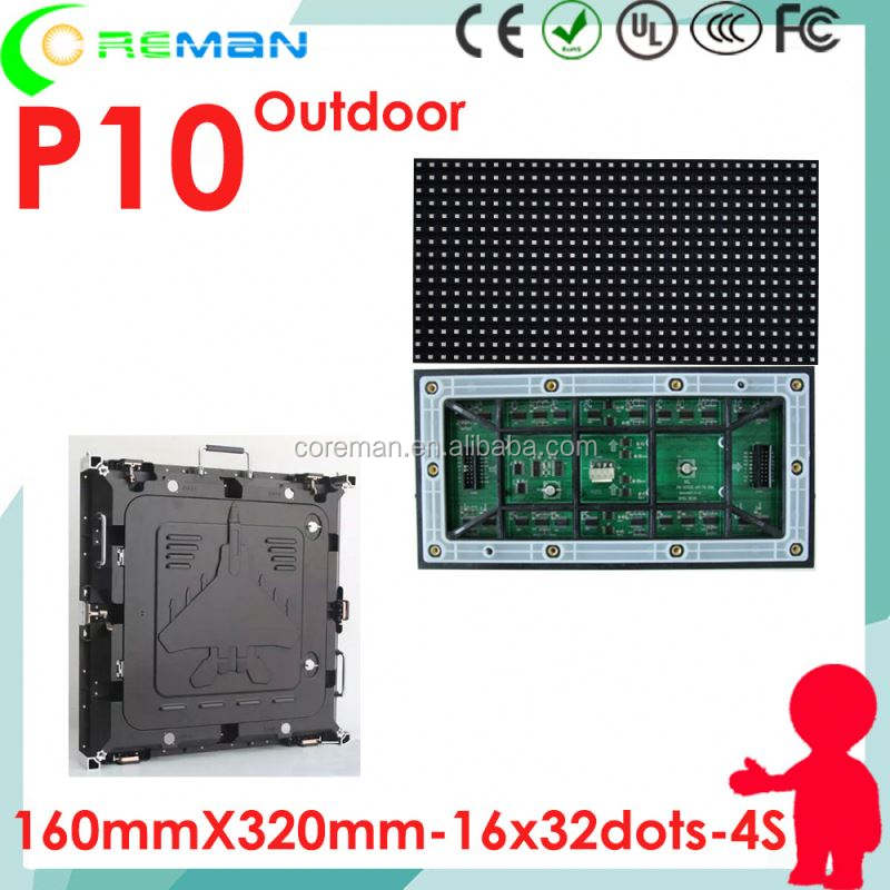 DIY LED sign board module p10 outdoor multi color 160x320mm , digital programmable led sign module p10 p8 p6 smd3535