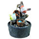 battery powered fountain resin birds portable mini water fountain