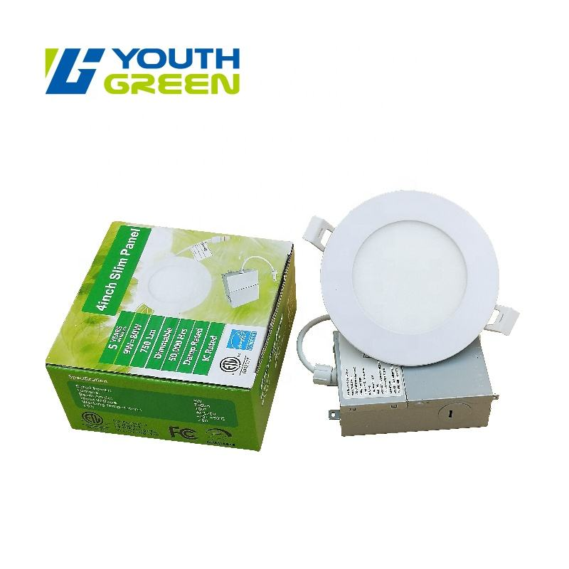 Color Changeable 3CCT 4inch 9W LED Slim panel LED Downlights LED Fixtures 750LM ETL Energy Star Certificated