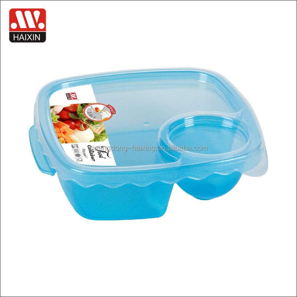 container mittagessen haushaltswaren mit deckeln plastik 3-compartment essen