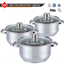 cookware set 6 pcs  stainless steel induction Kitchen cooking soup stock pot sauce pan stockpot casserole/cooking pan