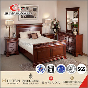Antique hotel bintang 5 kualitas tinggi bedroom furniture kayu