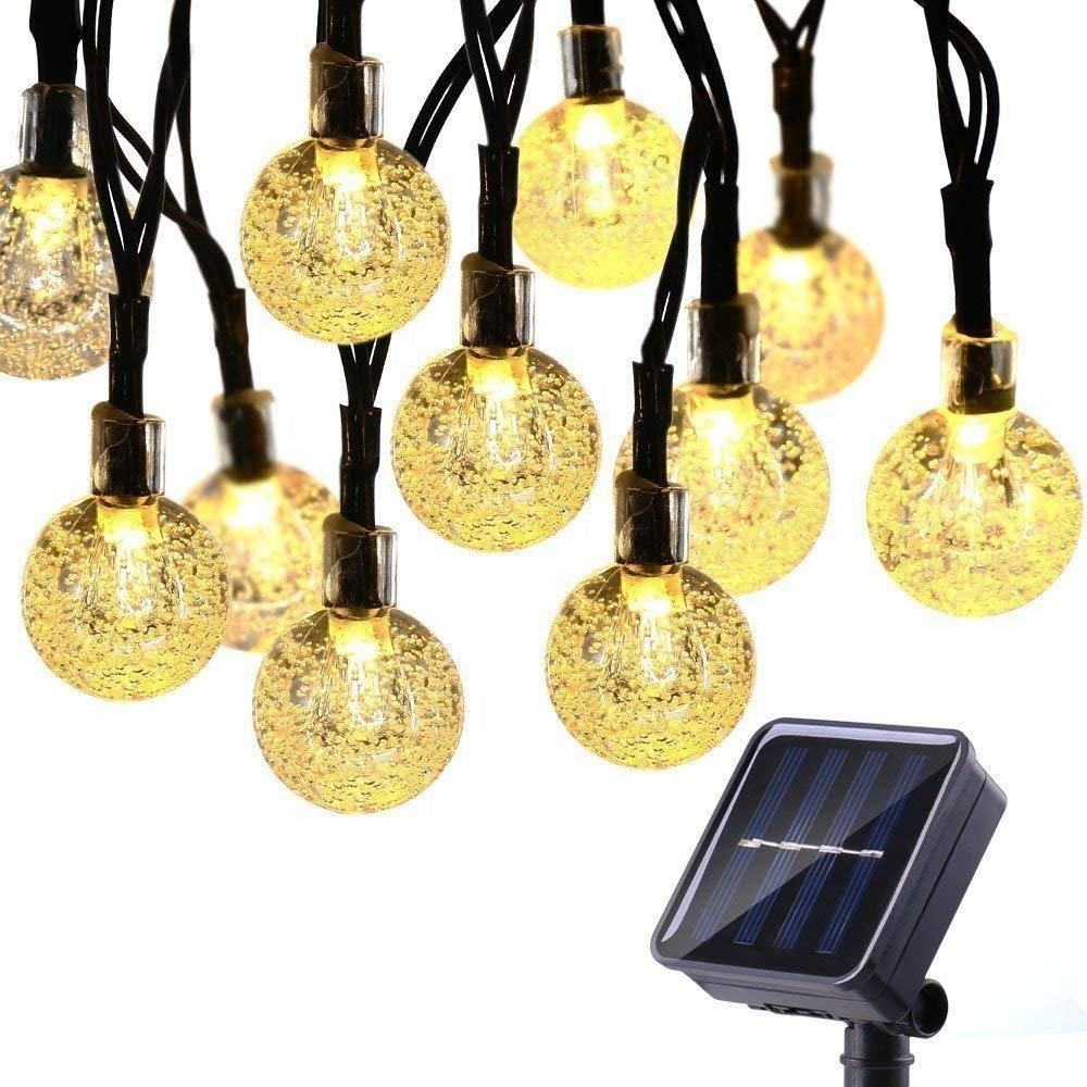 Outdoor Zonne-energie String Waterdichte Lights Garland 30LED Fairy String Lights Bubble Crystal Ball Lights Decoratieve
