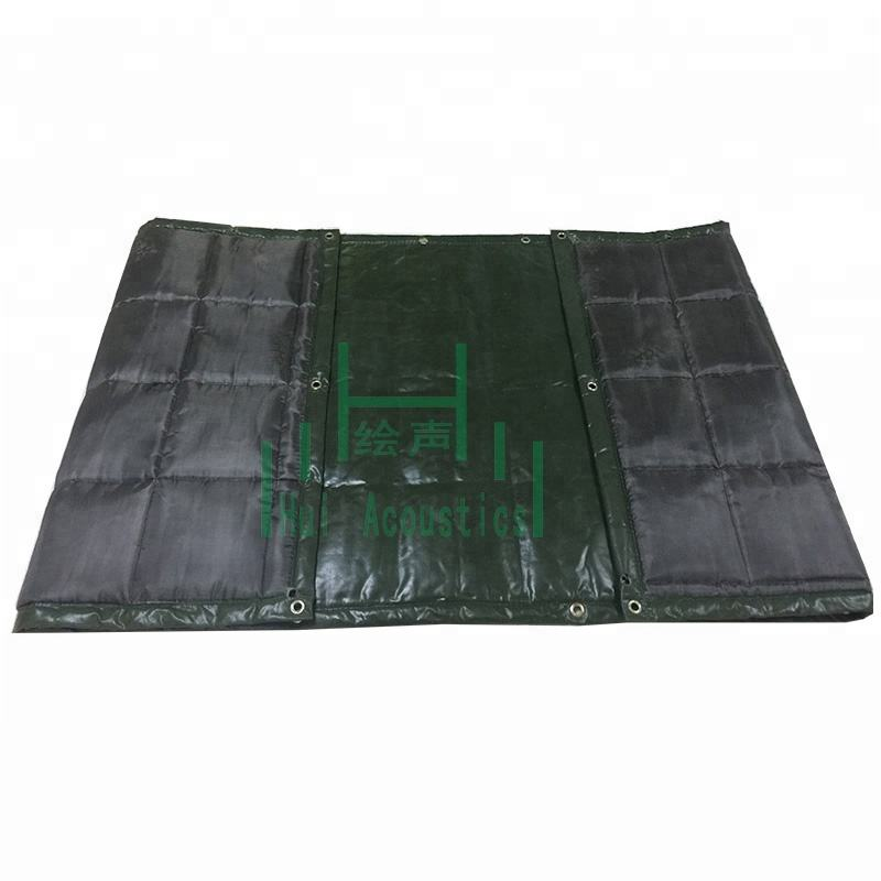 Outdoor Noise Cancellation Tarps on Plastic Fence Barrier Sound Insulation Barrier