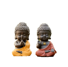 Buddha tea pet car ornaments to protect the Buddha statue decoration car accessories