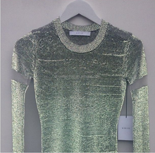 high light custom design reflective fashion wool t shirt with reflective yarn in it