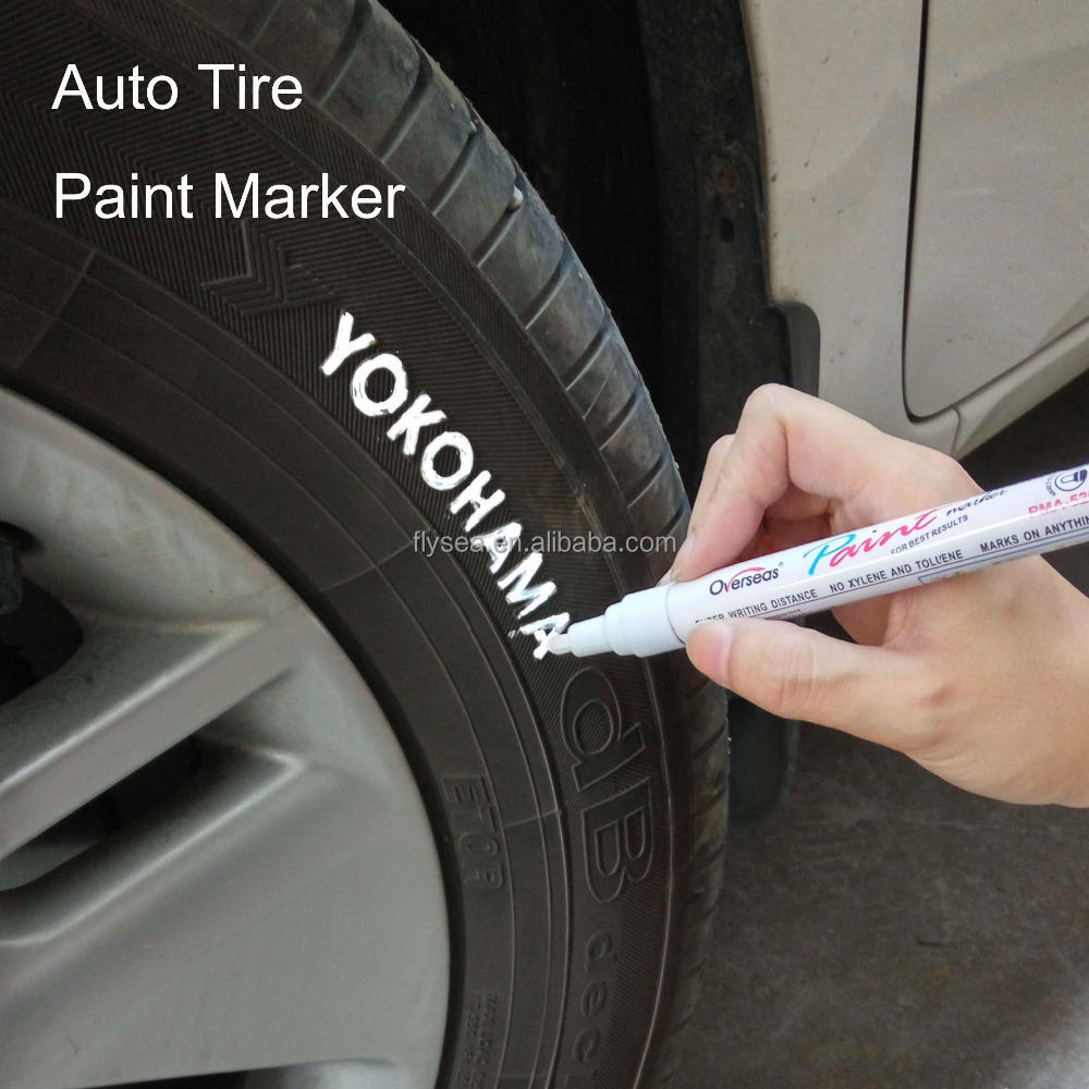 JAPANESE WHITE PERMANENT MARKER CAR TYRE TIRE METAL PAINT MARKER