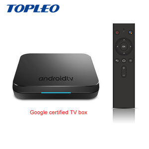 New Design KM9 OTA update google Certified voice input search play store android 9.0 tv box