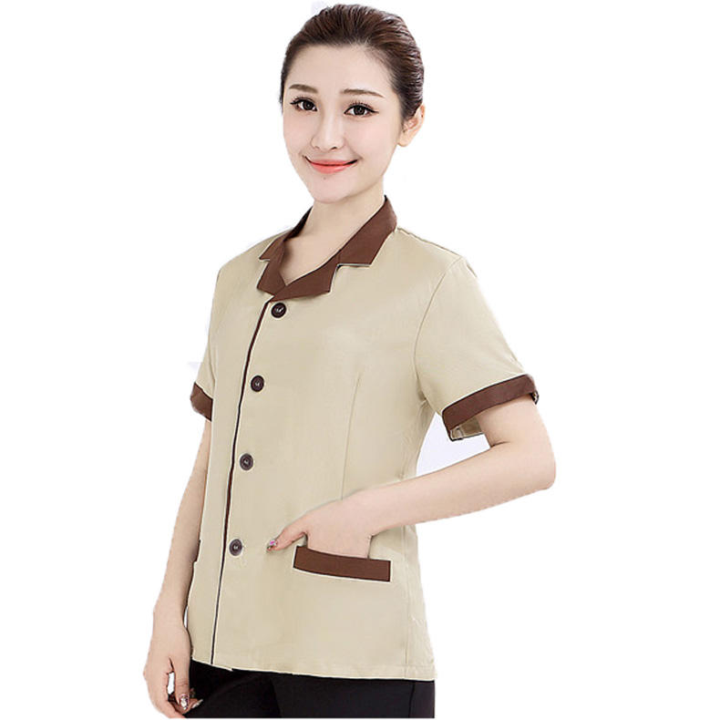Maid's House Keeping Uniform Hotel Room Property Cleaning Uniform Set