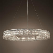 Modern Vintage Luxury K9 Crystal Chandelier Lighting Round Cristal Candle Chandeliers Halo Pendant Hanging Light