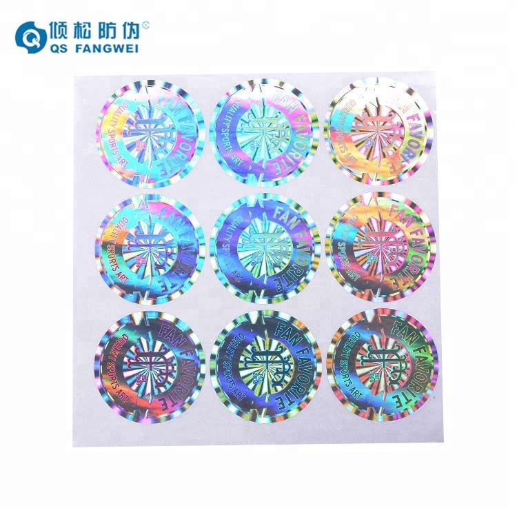 Custom maken holografische sticker label, security 3d custom hologram sticker label, hologram sticker