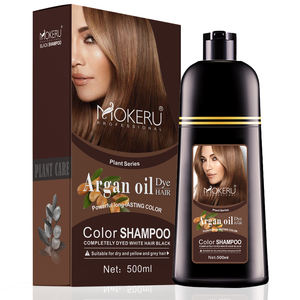Wholesale Private Label China Natural hair dye brown color black hair color shampoo for women