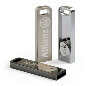 USB 2.0 interface Stainless steel material premium promotion gift one side laser engraved metal case 8GB usb stick